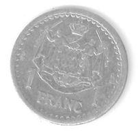 MONACO - 1 FRANC Aluminium - LOUIS II - ( 1943 ) - 1922-1949 Louis II