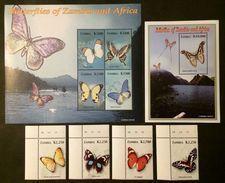 Zambia 2005** Mi.1508-11,klb.1510-15,bl.113 Butterflies [20;123] - Papillons
