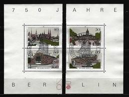 BERLIN - Mi-Nr. 772 - 775 - 2 Paare Aus Block 8 - 750 Jahre Berlin Gestempelt - Berlin (West)