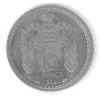 MONACO - 10 FRANCS 1946 - LOUIS II - Monaco