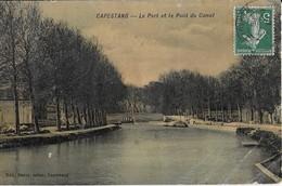 CAPESTANG ( Hérault ) : Le Port Et Le Pont  Du Canal Colorisés (1908 ) - Capestang
