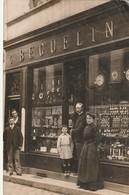 02/ Laon - Carte Photo Devanture D'Horlogerie - Belle Animation écrite En 1908 RRR - Laon
