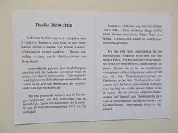 Bidprentje: Theofiel DESOUTER Wwr Jetje VAN WICHEN, Antwerpen 1911 - 2004, Kunstenaar Schilder + Foto - Avvisi Di Necrologio