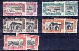 "15.2.1927; 1er Exposition ""Fiera "" De Tripoli, 2 X YT 37 - 41, Neuf *, Lot 50359 - Tripolitania"