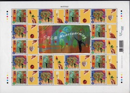 Hong Kong 2003 A Sheetlet Of Greetings Stamps To Celebrate Heartwarming. - 1997-... Chinese Admnistrative Region