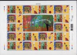Hong Kong 2003 A Sheetlet Of Greetings Stamps To Celebrate Heartwarming. - Blocks & Sheetlets