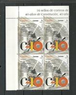 ESPAÑA 2018 - 40 Aniversario De La Constitución ** - 1931-Heute: 2. Rep. - ... Juan Carlos I