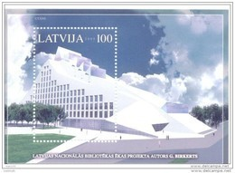 LATVIA 2005 National Library Block  MNH / **.  Michel Block 19 - Latvia