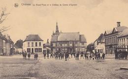 Chievres La Grand Place Et Le Chateau Du Comte D Egmont - Chièvres