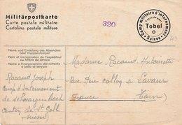 Carte Postale Militaire Camp D'internement Tobel Suisse - Military Post