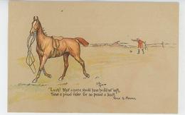 """CHASSE A COURRE - HORSES - Carte Illustrée Cavalier Tombé De Cheval """"Look! What A Horse Should Have..."""" VENUS & ADONIS - Hunting"""