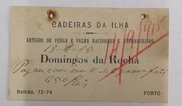 CADEIRAS DA ILHA DOMINGOS DA ROCHA BOLHÃO 72 PORTO PEQUENO TICKET - Portugal