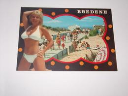 Pin Up En Maillot De Bain Sur Carte De Bredene En Belgique - Pin-Ups