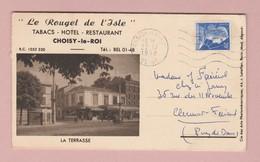 Gandon 20Fr Sur Lettre Publicitaire Tabac Hotel Restaurant Rouget De L'Isle 94 Choisy Le Roi - France