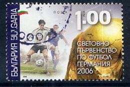 BULGARIA 2006 Football World Cup 1.00 L. Single Ex Block Used. Michel 4758 - Bulgaria