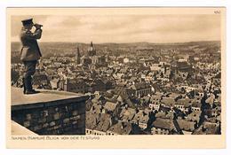 CPA Allemande : Guerre 1914/15 NAMUR Blick Von Der Festung - Panorama - Soldat Allemand Regarde Avec Jumelles - Guerra 1914-18