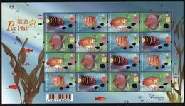 Hong Kong 2003 A Sheetlet Of Stamps Celebrating Aquarium Fish. - Blocks & Sheetlets