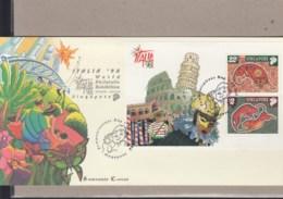 Singapur Michel Cat.No. Sheet 63 Souvenir Cover Special Expo Cls Italia 98 (2) - Singapour (1959-...)
