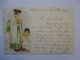 JEUNE FEMME JAPONAISE ET PETITE FILLE        PRECURSEUR  DE 1900      TTB - Avant 1900