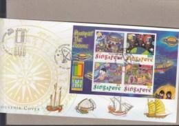 Singapur Michel Cat.No. Sheet 76 Souvenir Cover Special Expo Cls Usa 2000 (2) - Singapur (1959-...)