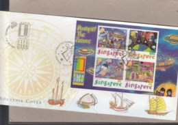 Singapur Michel Cat.No. Sheet 76 Souvenir Cover Special Expo Cls Usa 2000 (3) - Singapore (1959-...)
