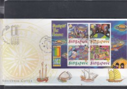Singapur Michel Cat.No. Sheet 76 Souvenir Cover Special Expo Cls Usa 2000 (5) - Singapore (1959-...)