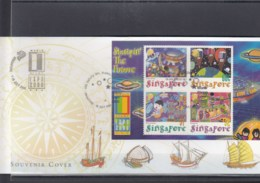 Singapur Michel Cat.No. Sheet 76 Souvenir Cover Special Expo Cls Usa 2000 (6) - Singapore (1959-...)