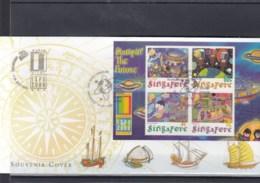 Singapur Michel Cat.No. Sheet 76 Souvenir Cover Special Expo Cls Usa 2000 (7) - Singapore (1959-...)