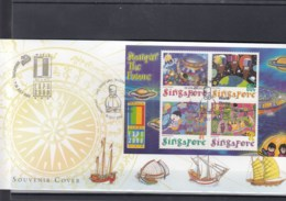 Singapur Michel Cat.No. Sheet 76 Souvenir Cover Special Expo Cls Usa 2000 (8) - Singapur (1959-...)