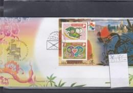Singapur Michel Cat.No. Sheet 78 Souvenir Cover Special Expo Cls Hong Kong 2001 (1) - Singapour (1959-...)