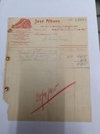JOSE ALBANO OLEOS MINERAIS PARA MACHINAS RUA MOUSINHO DA SILVEIRA PORTO 25 SETEMBRO 1915 - Portugal