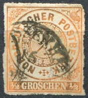 NDP 1/2 Gr Freimarke Michel 3 O, Verfärbt (2-213) - Norddeutscher Postbezirk