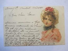 BELLE  JEUNE FEMME       PRECURSEUR  DE 1901      TTB - Avant 1900