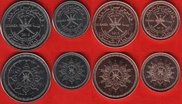 Oman Set Of 4 Coins: 5 - 50 Baisa 2015 UNC - Oman
