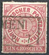 NDP 1 Gr Freimarke Michel 4 O R2 ...MEN (2-217) - Norddeutscher Postbezirk