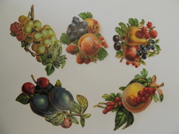 Lot De Découpis / Découpi - Ensemble De  Fruits, Raisin Poire Framboise-  Chromo -  3B3 - Découpis