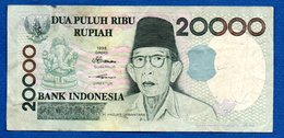 Indonésie  -  20000 Rupiah 1998  - Pick # 138    - état TTB - Indonesia