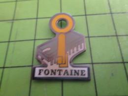 918a Pin's Pins / Belle Qualité Et Rare  / THEME MARQUES : FONTAINE CLE CLEF TRANSISTOR INFORMATIQUE - Merken