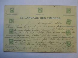 LANGAGE DES TIMBRES            PRECURSEUR  DE 1900      TTB - Stamps (pictures)