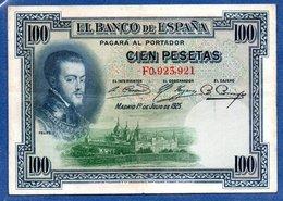 Espagne  -  100 Pesetas  1/7/1925  -- état  TTB - 100 Pesetas