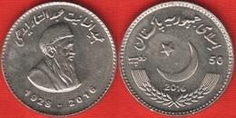 """Pakistan 50 Rupees 2016 """"Abdul Sattar Edhi"""" UNC - Pakistan"""