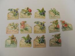 Lot De Découpis / Découpi - Lettres Enveloppes Miniatures Pensez à Moi Je Vous Aime-  Chromo -  3B5 - Découpis