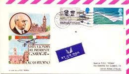 ITALY AIR MAIL FDC PRESIDENT G. SARAGAT  (NOV180030) - Italia