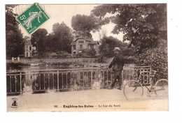 95 Enghien Les Bains Le Lac Du Nord Cpa Cachet 1912 - Enghien Les Bains