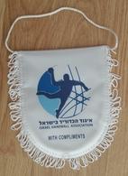 Pennant Handball Federation Of ISRAEL Association 15x16 Cm - Handball