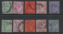 STRAITS SETTLEMENTS, 1904 1c,3c,4c,4c,8c (chalky And Ord Paper) Wmk Mult. CA VFU - Straits Settlements