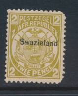 SWAZILAND, 1889 2d UM (MNH), 2 Rounded Corners, SG5, Cat £32 - Swaziland (...-1967)
