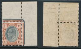 TRANSVAAL, 1904 1/- (wmk Mult. Crown CA) Corner Piece Very Fine MM, SG267, Cat £ - Zuid-Afrika (...-1961)