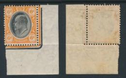 TRANSVAAL, 1904 6d Ordinary Paper, (wmk Mult. CA) Corner Piece Very Fine MM, SG2 - Zuid-Afrika (...-1961)