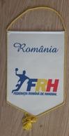 Pennant Handball Federation Of ROMANIA Flag Association 16x24cm Typ I. - Handball